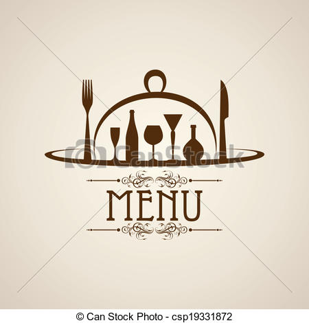 EPS Vector of Template for menu card with cutlery.