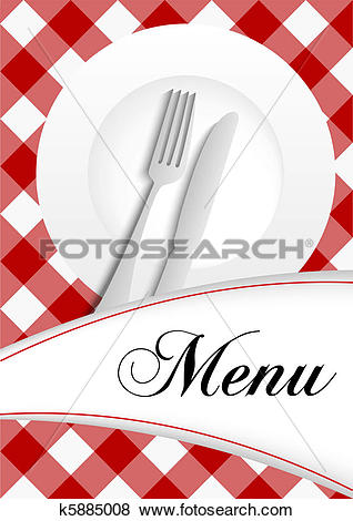 Clip Art of Menu Card Design k5885008.