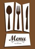 Clipart of Elegant card for restaurant menu k10106714.