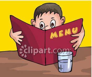 Menu For Restaurants Clipart.