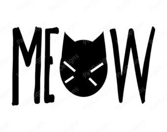 Meow Clip Art.