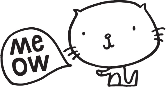 Meow clipart.
