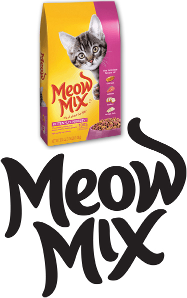 Meow Mix Cat Food.
