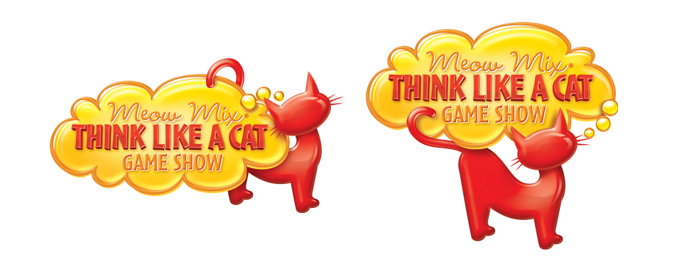 Meow Mix Think Like a Cat Game Show Logo — Super Adam World.