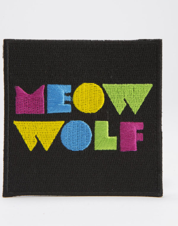 Meow Wolf Logo Black Square Patch.