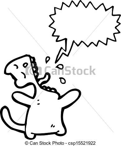 Vector Illustration of cartoon cat meowing csp15521922.