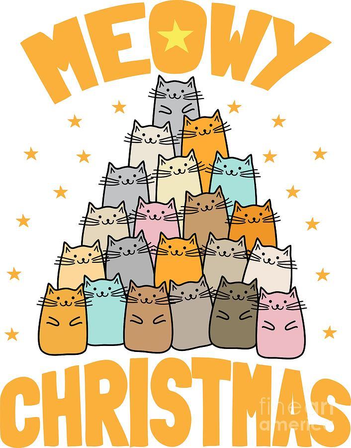Meowy Christmas Cat Xmas Tree Decoration.