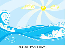 Clipart Plage Mer Image.