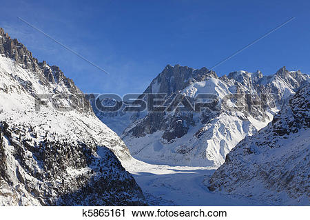 Stock Photography of The Mer de Glace k5865161.