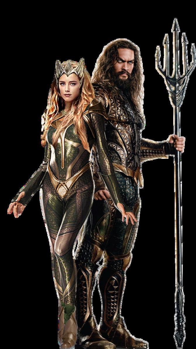 Download Free png Amber and Jason as Mera and Aquaman JL PNG.