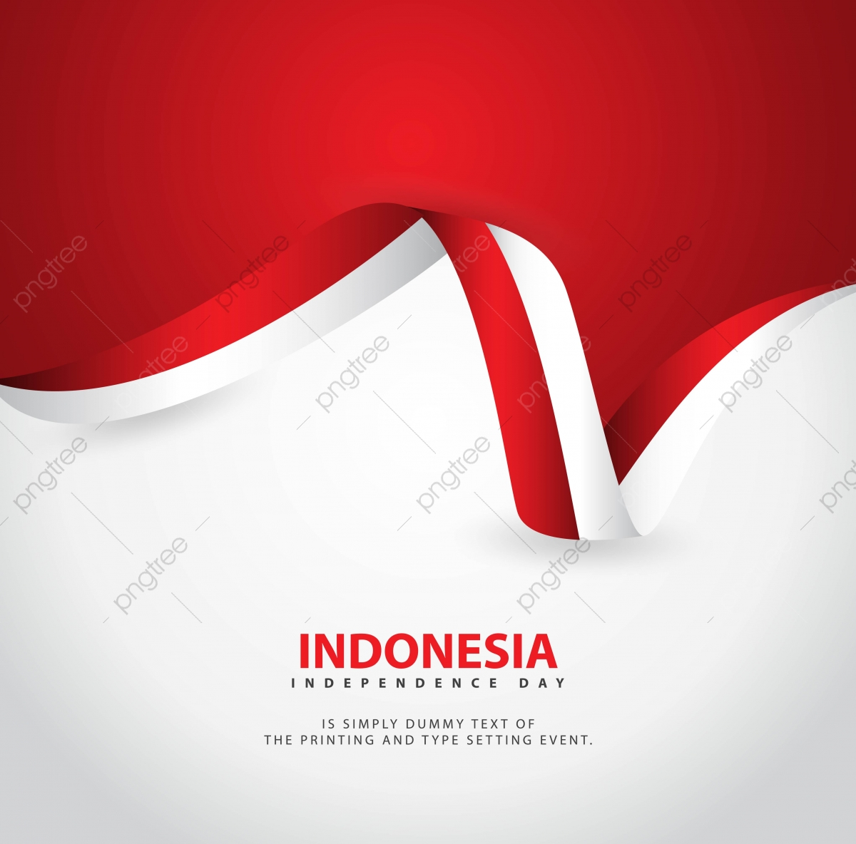 Indonesia Independence Day Vector Template Design.