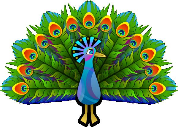 Peacocks creative and clip art on.