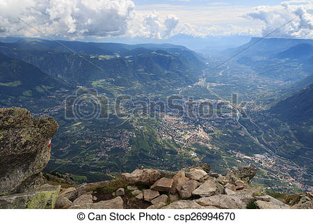 Picture of View from Mutspitze to Meran.