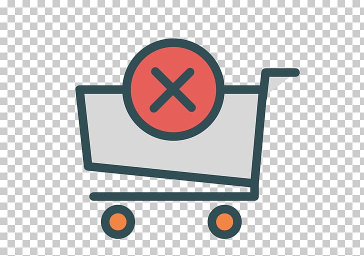 Iconos de computadora carro de compras compras en línea.