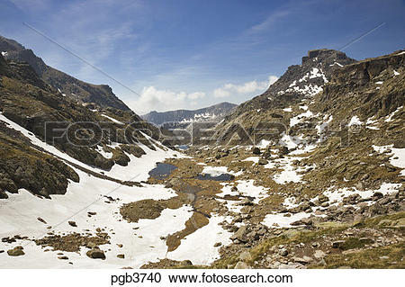 Stock Photography of Parc National du Mercantour. The Vallee des.