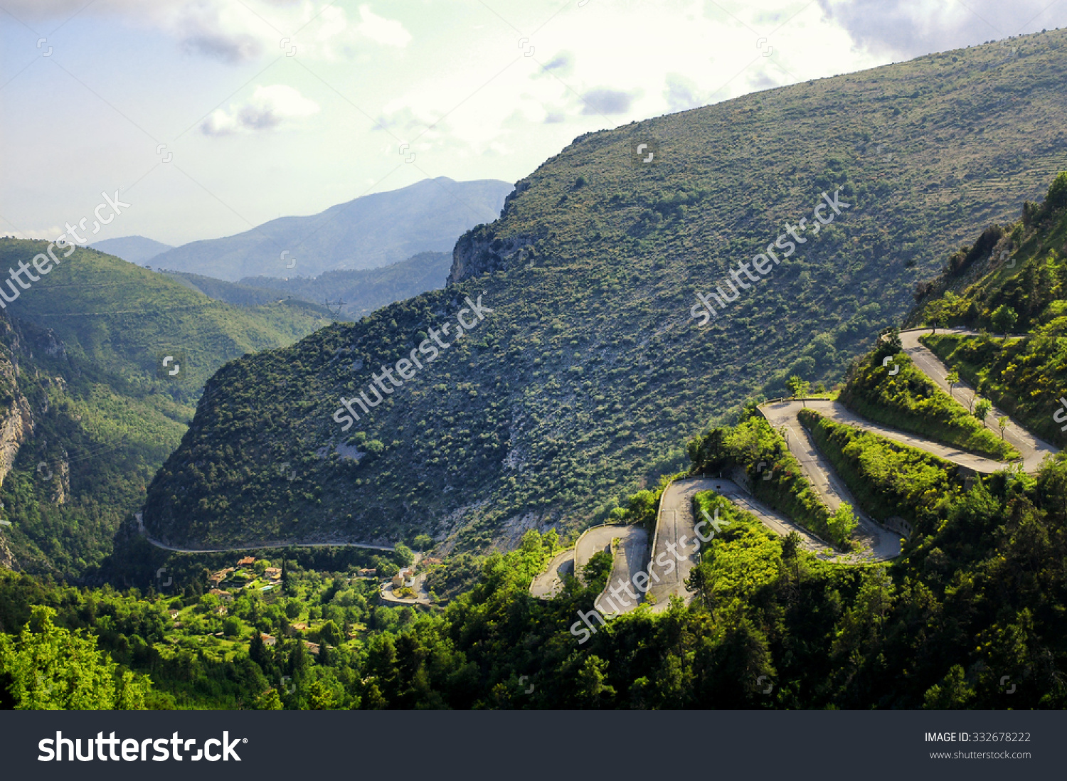 Col De Braus (French Alps, Alpes Maritimes, France) With Its.