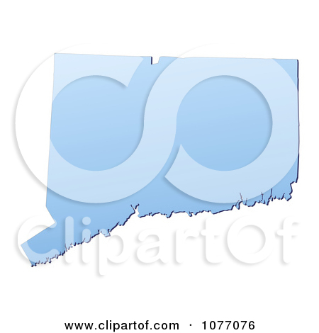 Clipart Gradient Blue Connecticut United States Mercator.