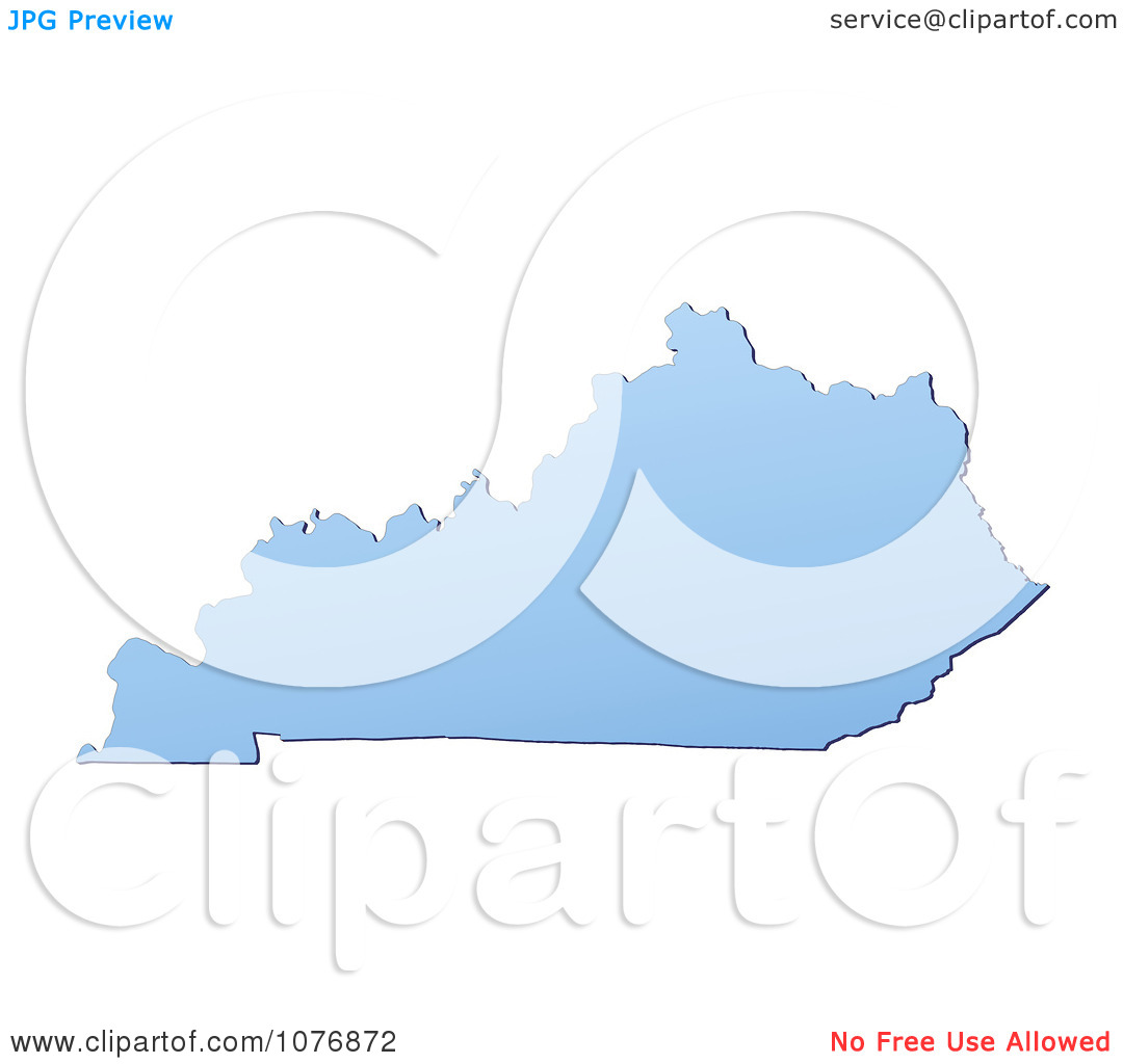 Clipart Gradient Blue Kentucky United States Mercator Projection.