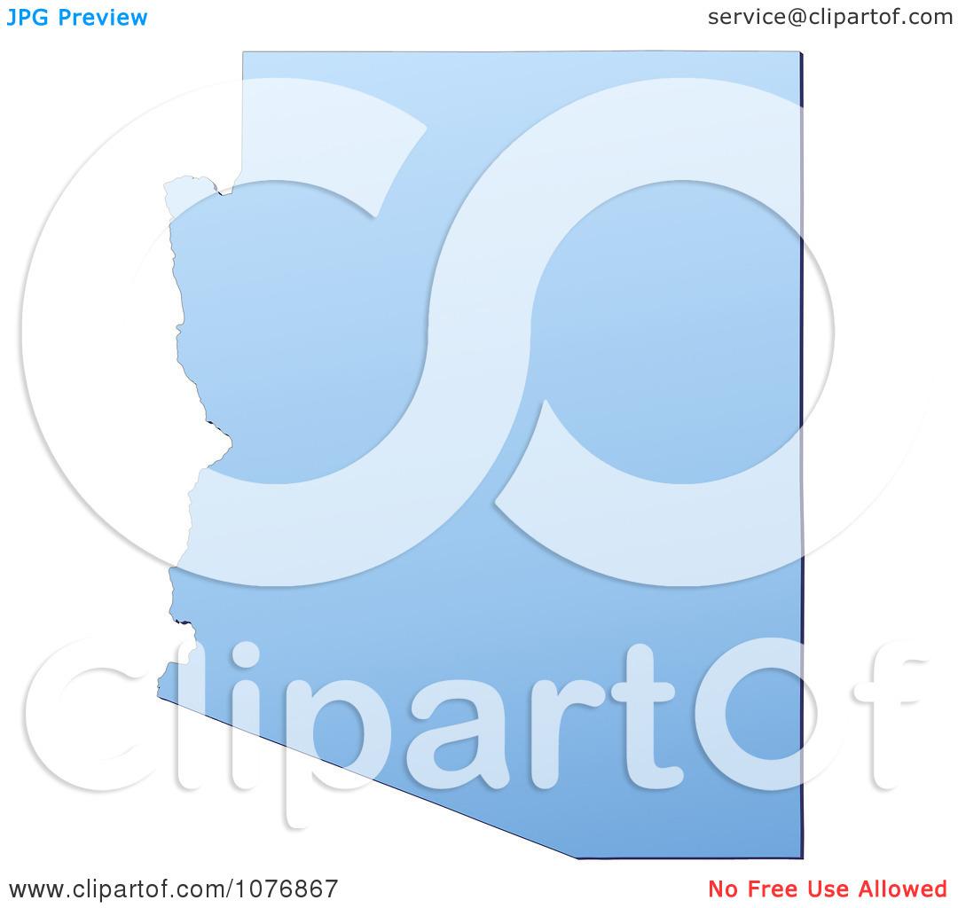 Clipart Gradient Blue Arizona United States Mercator Projection.