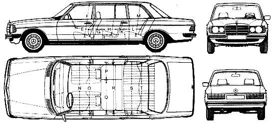 Кола Mercedes Benz 240D LWB W123 1977.