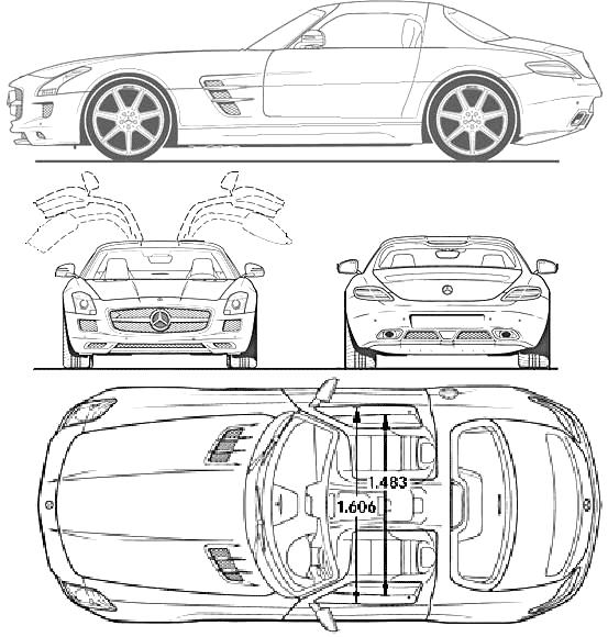 Mercedes sls amg clipart.