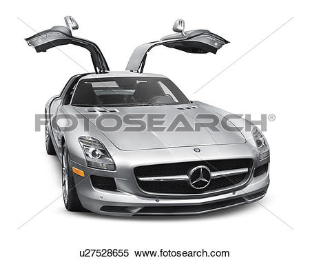 Stock Image of 2011 silver Mercedes.