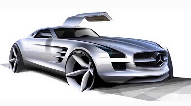 Mercedes sls clipart.
