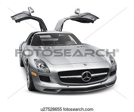 Mercedes benz sls amg clipart.