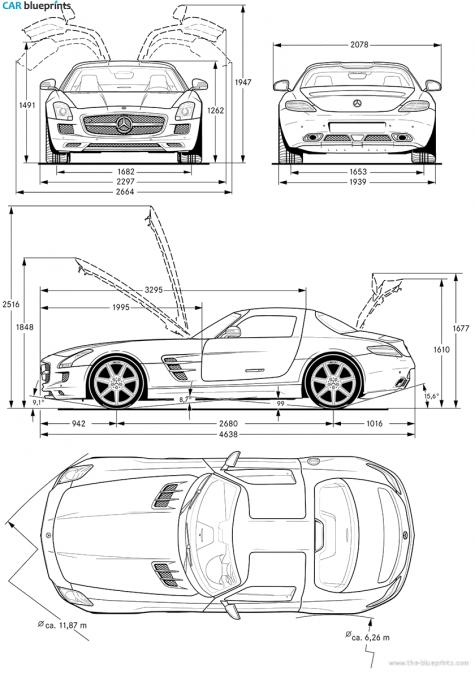 Mercedes benz sls amg clipart clipground car blueprints malvernweather Choice Image