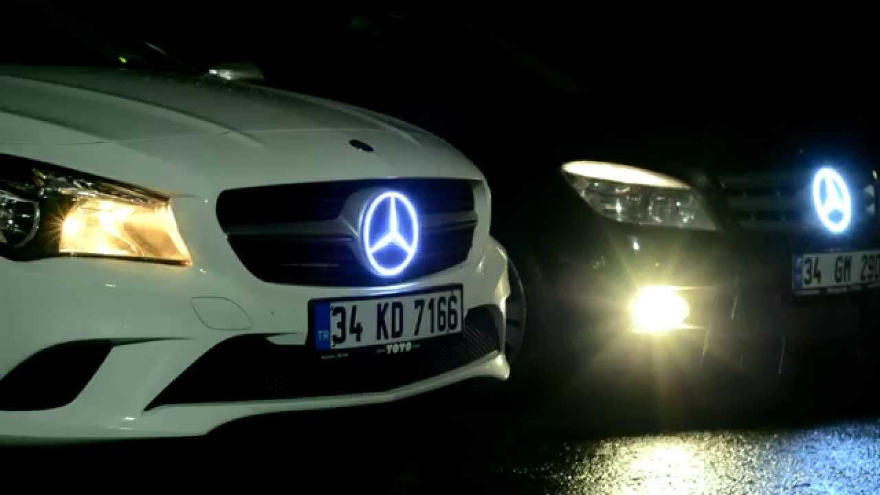 Mercedes Lighted Logo ( Emblem ).