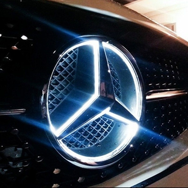 Front Grille LED Logo Light Case For Mercedes Benz GLK ML Viano GL A B C E  Car Badge Light Auto Led Emblem light.