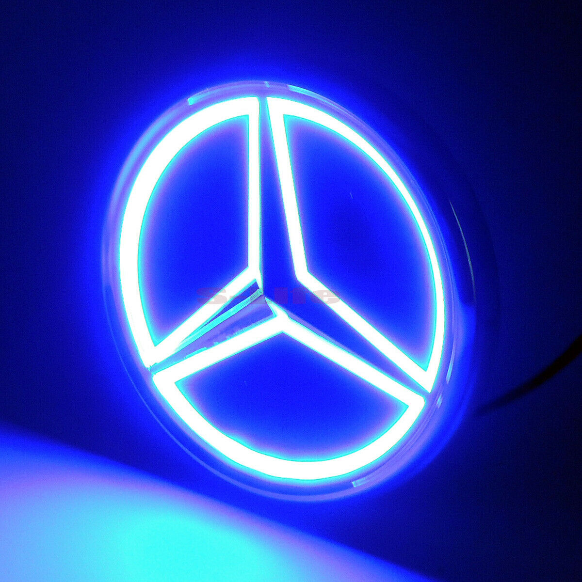 Details about 5D LED Car Tail Logo Blue Light Badge Emblem Light For  Mercedes.