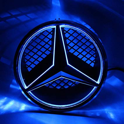 Amazon.com: BeamSeed Car Front Grille LED LOGO Light for.