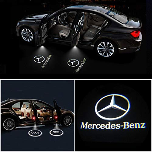 IHEX Auto 4pcs for Mercedes Benz Wireless Car Door Led Welcome Laser  Projector Logo Light Ghost Shadow Light Lamp Logos.