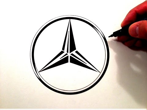 How to Draw the Mercedes Benz Symbol.