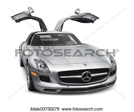 "Stock Photograph of ""2011 silver Mercedes."
