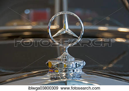 "Stock Photograph of ""Mercedes star, hood ornament, Mercedes Benz."