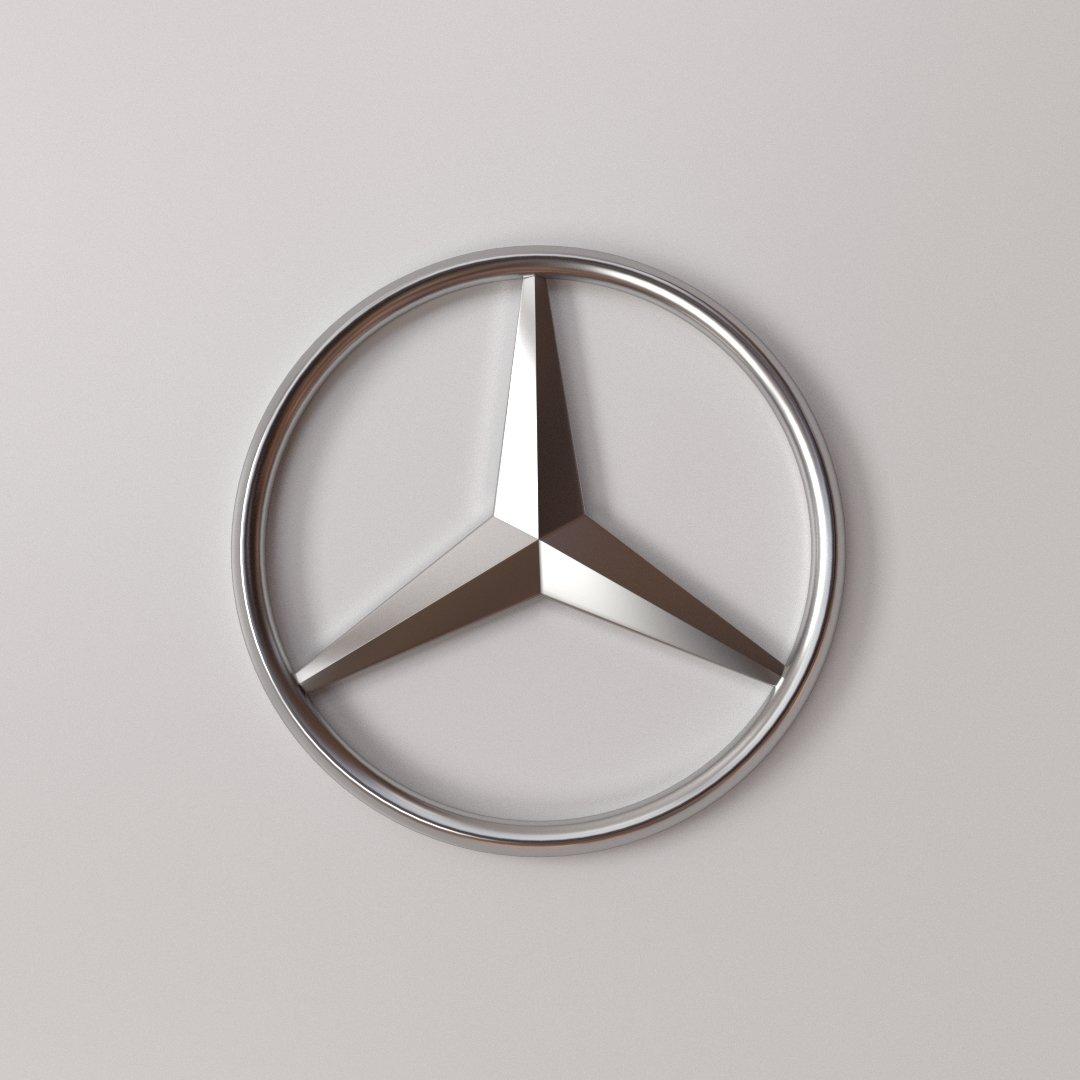 Mercedes Benz Logo 3D Model in Other 3DExport.