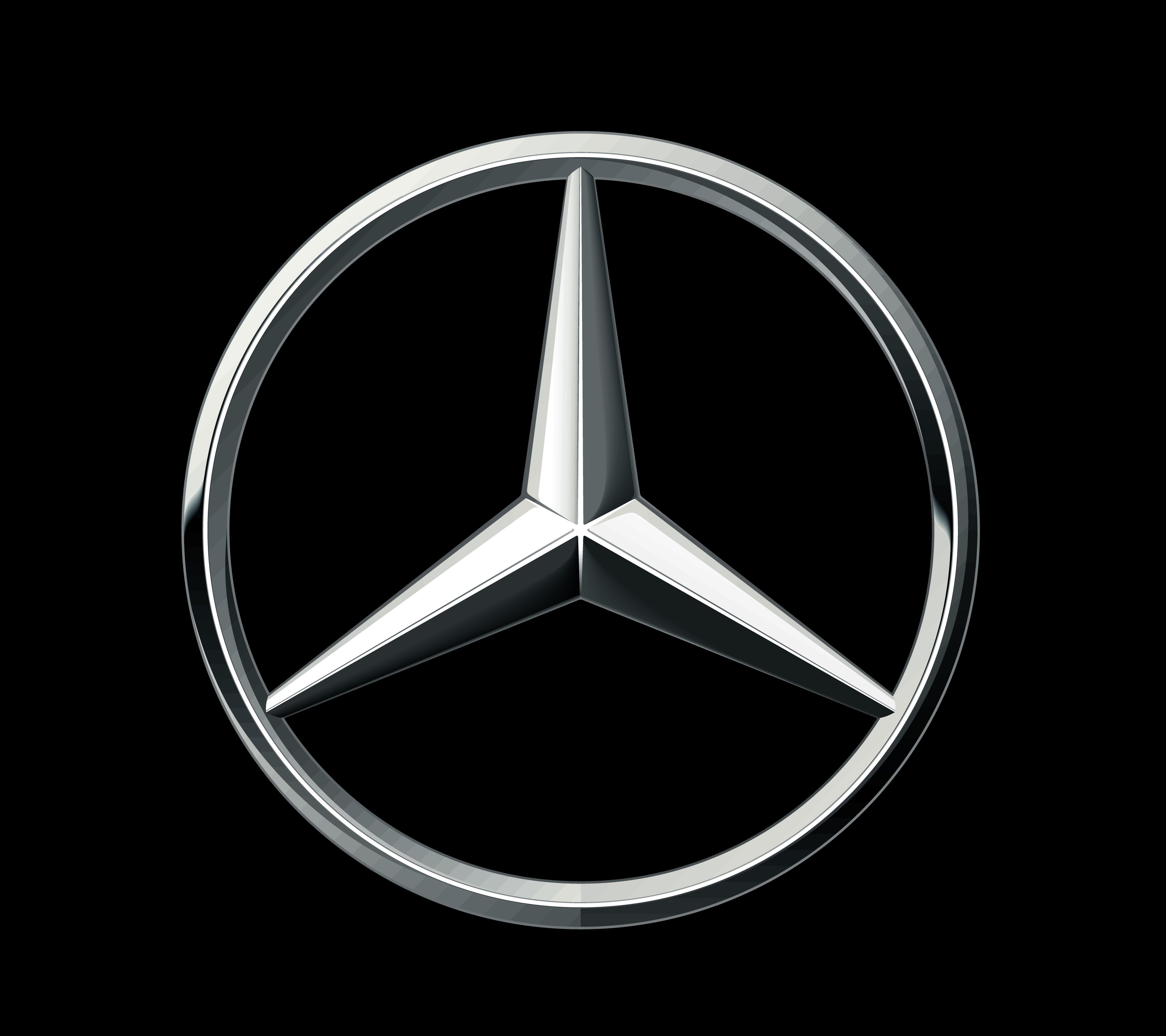 Mercedes symbol.