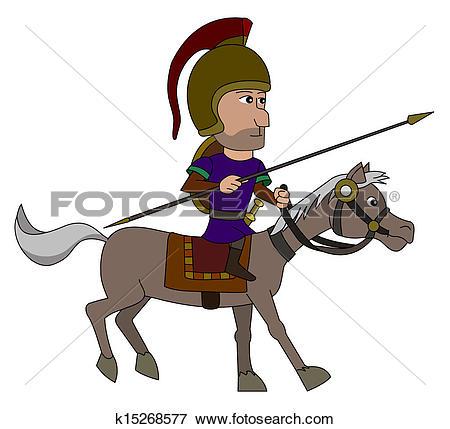 Clipart of Cartoon male soldier or mercenary k15263002.