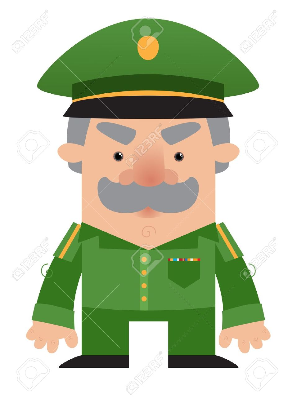 Cartoon Soldier Officer Royalty Free Cliparts, Vectors, And Stock.