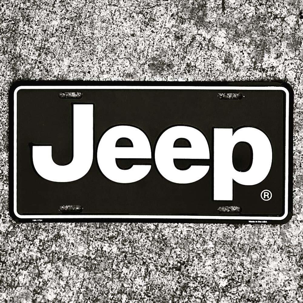 Detroit Shirt Co. Jeep Logo License Plate Sign.