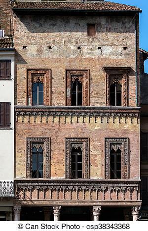 Stock Image of Merchant House in Mantua, Italy.