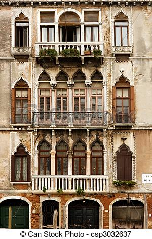Picture of Merchant houses in Venice.