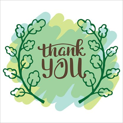 Thank you very much. Hand lettering inscription Clipart.