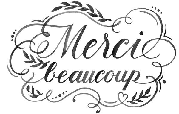 Merci Beaucoup Watercolor Hand Lettering on Behance.