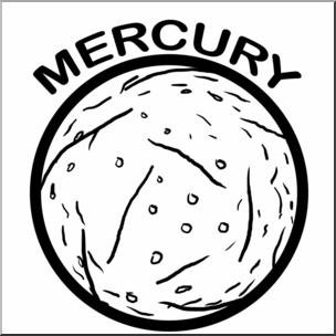 Clip Art: Planets: Mercury B&W I abcteach.com.
