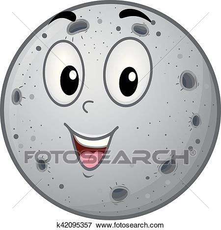 Mascot Planet Mercury Clip Art.