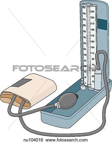 Stock Illustration of Free standing pressure manometer of the.