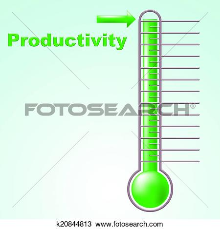 Drawing of Thermometer Productivity Indicates Mercury Effective.